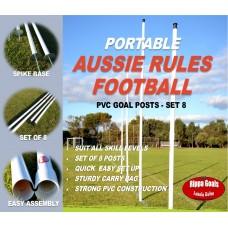 Rippa Goals Portable AFL - Set 8 Posts (Auskick / AFL 9's) - SOLD OUT UNTIL JULY 2021