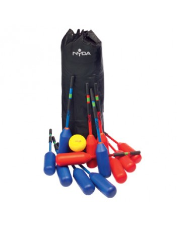 Polo Hockey Kit - 12 sticks, 1 x ball + Lacrosse Bag