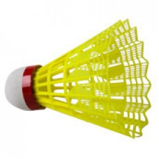 Club Red Nylon Badminton Shuttles (tube of 6)