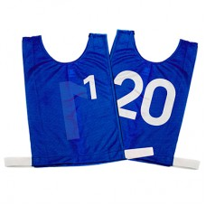 Senior Numbered Basketball Mesh Vests Blue- set 1-20