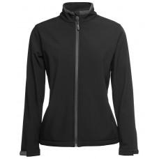 JB's Ladies Soft Shell Jacket - Black/Charcoal - Size 14