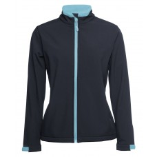 JB's Ladies Soft Shell Jacket - Navy/Sky - Size 16