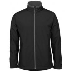 JB's Mens Soft Shell Jacket - Black/Charcoal - Size Large