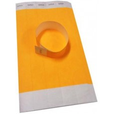 Yellow Disposable Wrist Bands Pack (100)