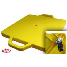 Scooter Board Yellow Plastic