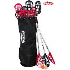 Soft Lacrosse Kit - 12 x sticks + 12 x balls + lacrosse bag