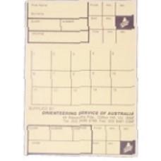 Orienteering Control Cards (per 100)