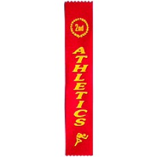 Second Place Athletics Ribbon (Pack 100)