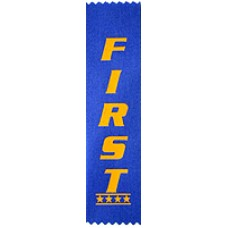 First Place Plain Ribbon (Pack 100)