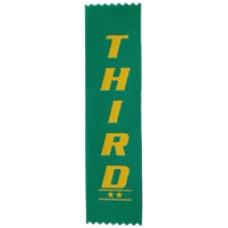 Third Place Plain Ribbon (Pack 100)