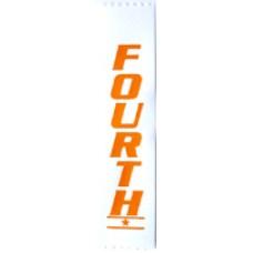 Fourth Place Plain Ribbon (Pack 100)