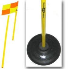Corner Flag Post With Rubber Base & Flag