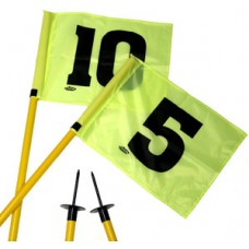 Agility Pole Set With Numbered Flags On A Spike Base (Set of 12)