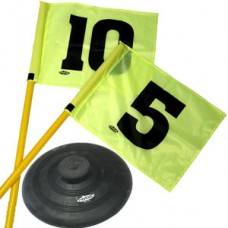 Universal Pole Set With Flags On A Rubber Base (Set of 12)