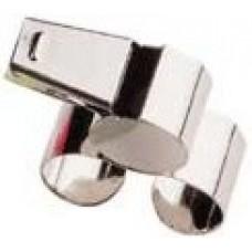 Metal Finger Grip Whistle
