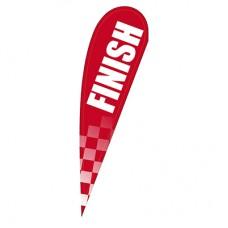 Finish Teardrop Banner Red