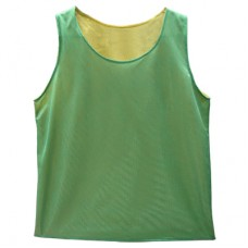 Reversible Mesh Vest  Green / Yellow - Large