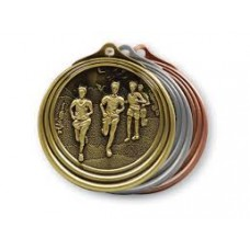 Cross Country Gold Medal with Neck Cord