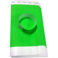 Green Disposable Wrist Bands Pack (100)