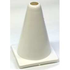 Witches Hat Deluxe PVC 20cm White