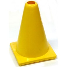 Witches Hat Deluxe PVC 20cm Yellow