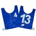 Junior Numbered Basketball Mesh Vests  Blue - Set 4-13