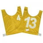 Senior Numbered Basketball Mesh Vest Yellow - Set 4-13